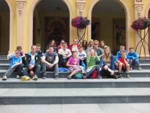 Gruppenfoto am Mittag im Phantasialand