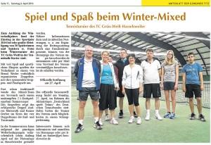 Titzer Amtsblatt Nr. 5 vom 06.04.2014