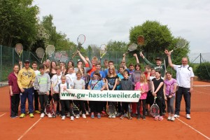 Gruppenfoto Tenniscamp