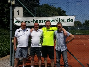 Michael Ralfs, Rainer Gerber, Stefan Grun und Bernhard Dolfus kämpften gegen Würselen