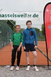 Sieger der U13 Junioren Felix Wirtz (links)